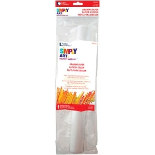 "Simply Art Drawing Paper Roll 12""X120""-"