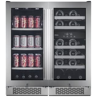 Avallon AWBV2386 Built-In 30 Inch Wide 23 Bottle 86 Can Capacity Beverage Center Set with Dual Temperature Control and Door
