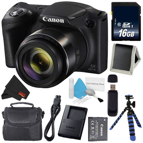 Canon Powershot SX430 IS Digital Camera Bundle (Intl Model)