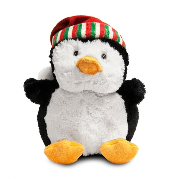 Petey the Penguin with Santa Hat