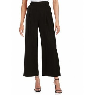 Rachel Zoe NEW Black Women's Size 10 Wide Leg Dress Pants Silk