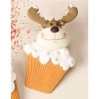 Roman 16460670 Sweet Memories Reindeer Cupcake Christmas Ornament