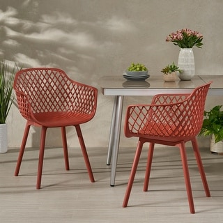 Link to Poppy Outdoor Modern Dining Chair (Set of 2) by Christopher Knight Home Similar Items in Dining Room & Bar Furniture