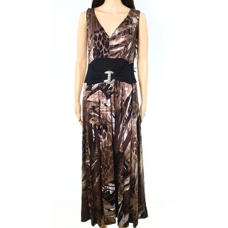 Liz Lange NEW Brown Womens Size Medium M Ultimate Stretch Maxi Dress