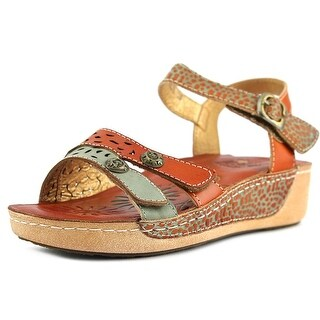 Spring Step Freja Women Open-Toe Leather Multi Color Slingback Sandal