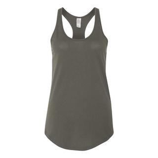 Women's Satin Jersey Shirttail Tank Top