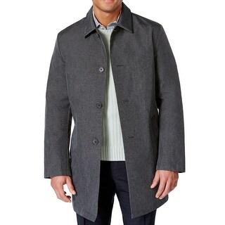 DKNY NEW Gray Heather Mens Size 44R Darryl Rainwear Coat Jacket