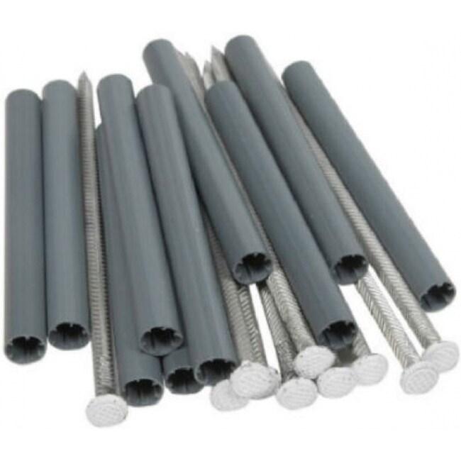 Amerimax 25043 Aluminum Spike & 5 Ferrule, 7, White, 10-Pack