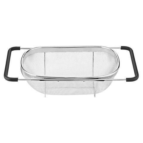 Cuisinart CTG-00-OSC Over-The-Sink Colander, 5.5 Qt - Black/Stainless