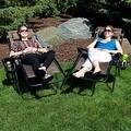Sunnydaze Dark Brown Oversized Zero Gravity Lounge Chair, Set of 2 - Thumbnail 5