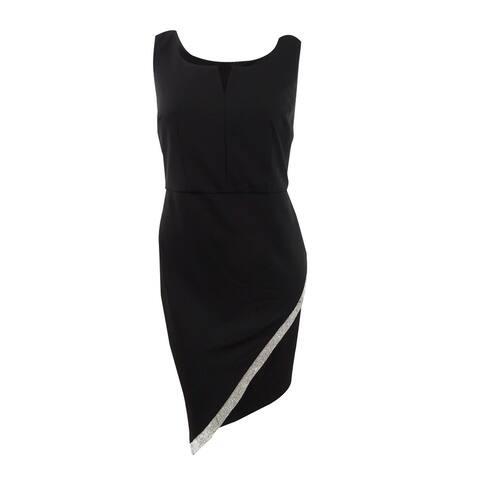 BCX Women's Plus Size Embellished Asymmetrical Dress