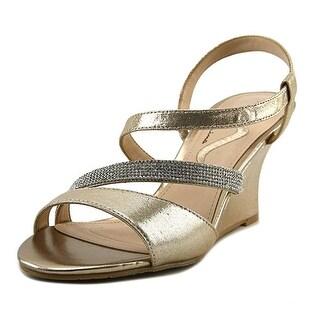 Nina Viniece Women Open Toe Synthetic Silver Wedge Heel