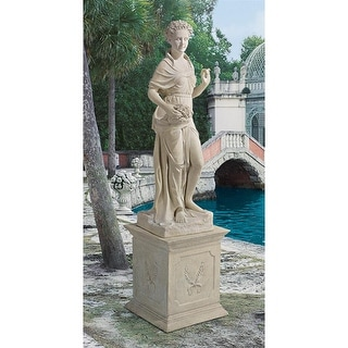 Design Toscano The Four Goddesses of the Seasons Statue: Spring Statue & Plinth