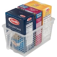 Perfect Pantry 52130 Polypropylene Handy Basket, Large, Clear