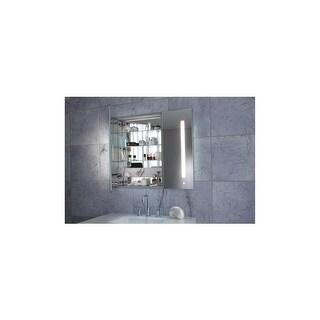 "Robern AC3630D4P2L AiO 36"" x 30"" x 4"" Double Door Medicine Cabinet w/ Large Door at Left, Task Lighting, & Interior Illumination"