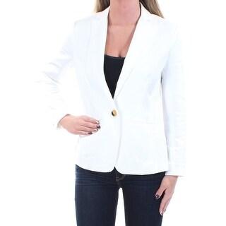 Womens Ivory Wear To Work Blazer Jacket Size 0