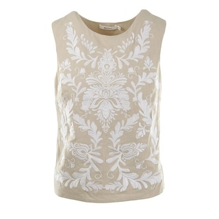 Bailey 44 Womens Linen Embroidered Tank Top