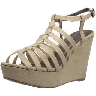 Link to Michael Antonio Women's Racer Wedge Sandal - 5.5 Similar Items in Women's Shoes