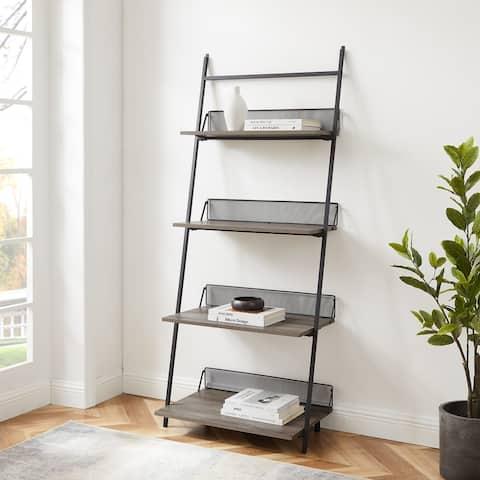 "Carbon Loft 64"" Industrial Ladder Bookshelf"