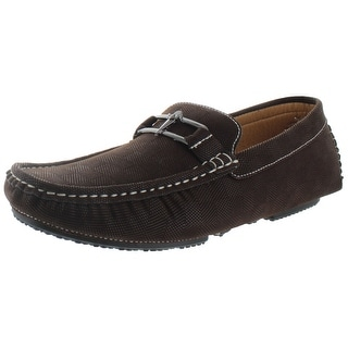 Moda Essentials Checkered Mens Loafers Driving Moc Shoes