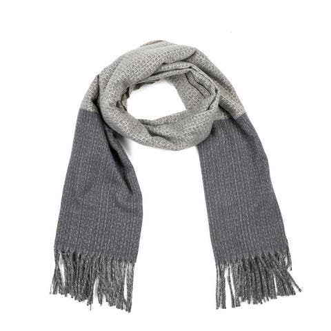 Glitzhome Warm Soft Long Scarf with Tassels