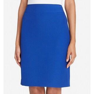 Tahari by ASL NEW Blue Womens Size 14P Petite Straight Pencil Skirt