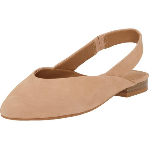 Lucky Brand Womens Benten Slingbacks Leather Pointed Toe - Maple Sugar/Citadel - 9.5 Medium (B,M)