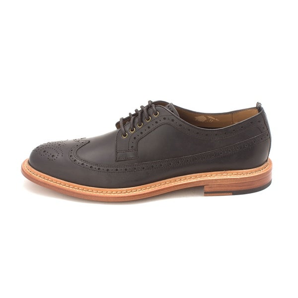 Cole Haan Mens Willet - Long Wing Ox Leather Lace Up Dress Oxfords - 8.5