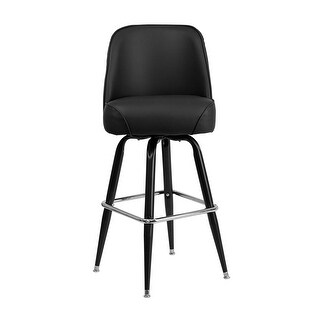 Offex Metal Barstool with Swivel Bucket Seat