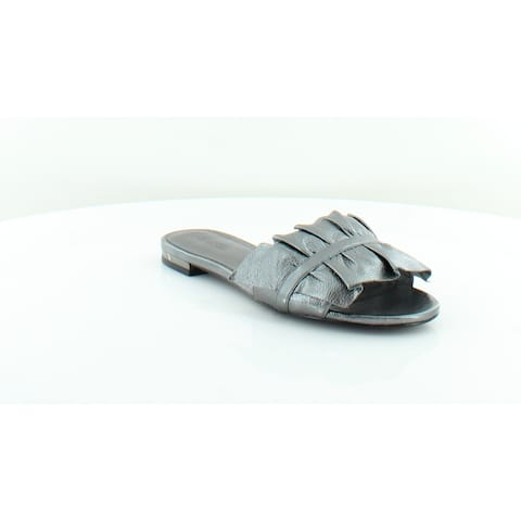 456f14e5f295 Michael Kors Bella Slide Women s Sandals GUNMETAL - 5