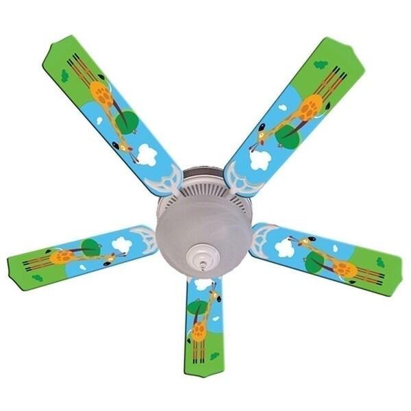 Giraffe Print Blades 52in Ceiling Fan Light Kit - Multi