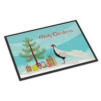 Silver Pheasant Christmas Indoor or Outdoor Mat, 24 x 36 in.