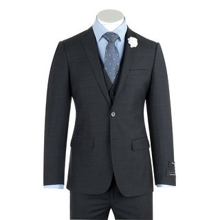 Sienna Charcoal Gray Slim Fit Suit & Vest by Tiglio Luxe TIG1010