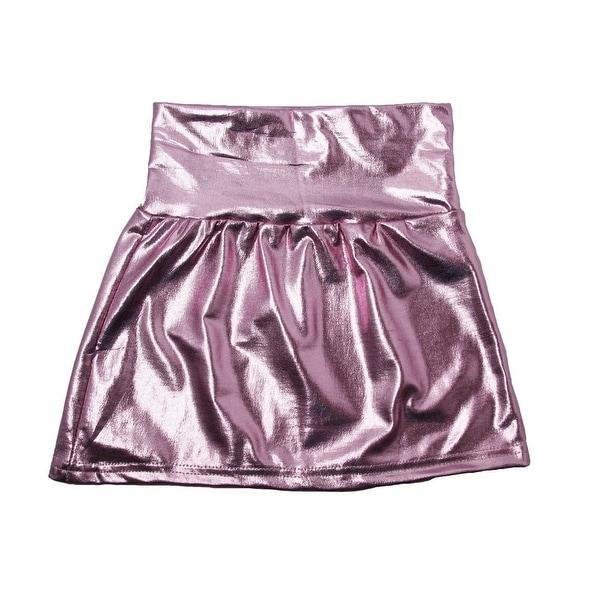 Baby Girls Pink Metallic Shine Stretchy Lightweight Soft Skirt 24M