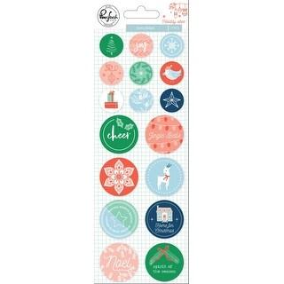Holiday Vibes Epoxy Stickers 17/Pkg-