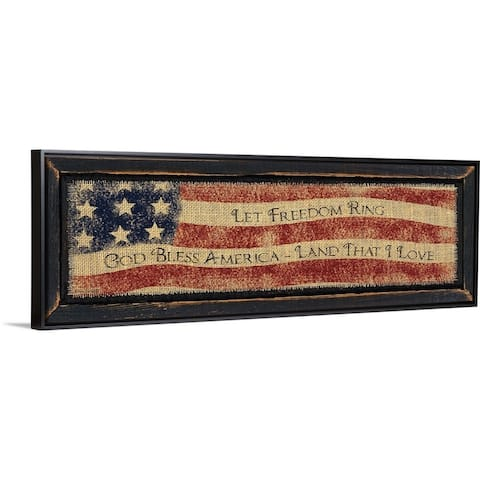 """God Bless America"" Black Float Frame Canvas Art"