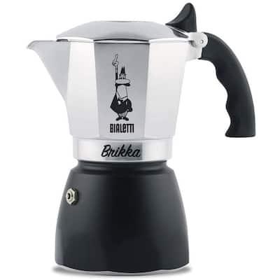 Bialetti New Brikka, Moka Pot-producing cream of the espresso 4 Cups - 8' x 11'