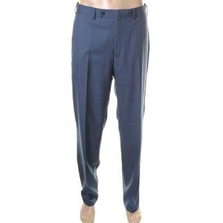 Calvin Klein Mens Slim Fit Flat Front Dress Pants
