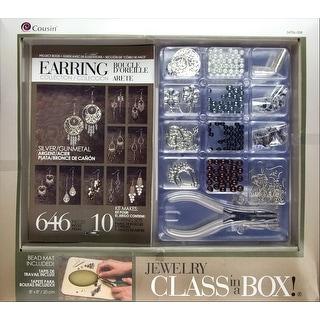 Jewelry Basics Class In A Box Kit-Silver Tone Earrings - Silver