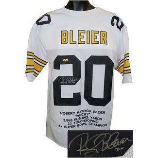 04cc9c432 Shop Rocky Bleier signed White TB Custom Stitched Pro Style Football Jersey  20 w Embroidered Stats XL - Free Shipping Today - Overstock - 19872296