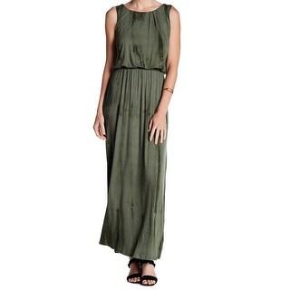 Bobeau Green Womens Size Medium M Blouson Scoop Neck Maxi Dress
