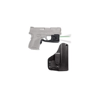 Crimson Trace Green Laserguard & Tactical Light With Bladetech Holster For Springfield Armory Xd-S - Ll-802G-Hbt