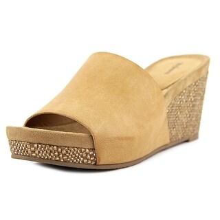 Style & Co Jackeyy Women Open Toe Synthetic Tan Wedge Sandal