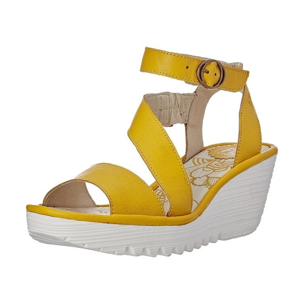 Fly Loundon Womens Yesk Open Toe Casual Platform Sandals