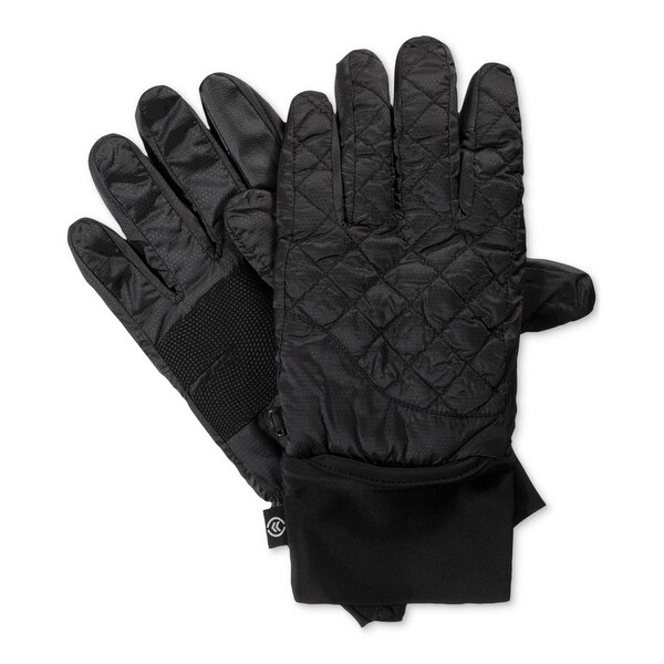 9c98dca58 Shop Isotoner Black Quilted Smartouch Men's Size Large L Winter Gloves - Free  Shipping On Orders Over $45 - Overstock - 28042015