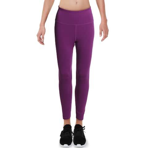 Reebok Womens Athletic Leggings High Waist Fitness - Aubergine - S