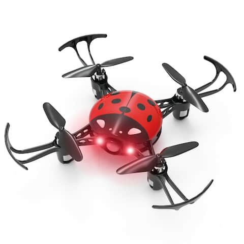 Syma X27 Mini RC DroneLadybug 2.4Ghz 4-AxisQuadcopter Headless Mode Kids Red - 4.13 x 4.13 x 1.02 inches