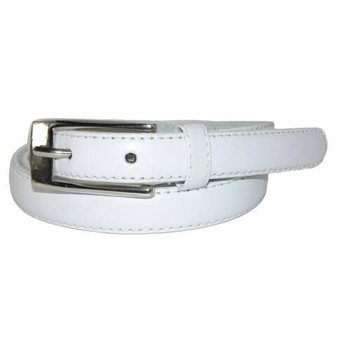 CTM® Women's Skinny Leather Dress Belt (Pack of 2)