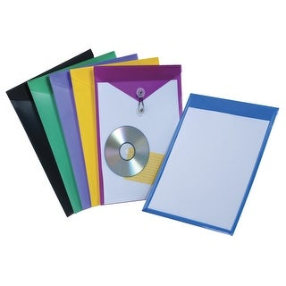 Pendaflex View Front Poly Envelopes, Letter, Assorted Colors, Pack of 24