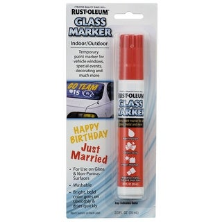 Rust-Oleum 267964 Glass Marker, Red, 2/3 Oz